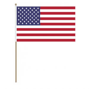 USA Country Hand Flag, large.